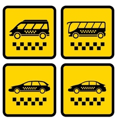 set four taxi icons vector image vector image