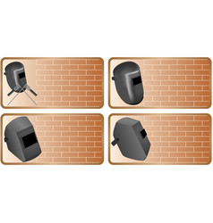 set of icons construction industry vector image vector image