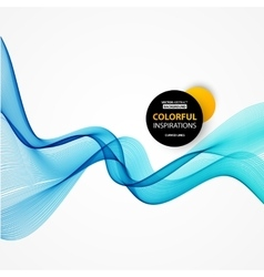 Smooth wave stream line abstract header layout vector image