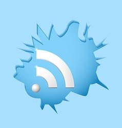 Wi-fi breaks barriers vector