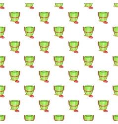 Children bucket with shovel pattern cartoon style vector