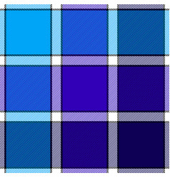 Blue color check plaid seamless pattern vector