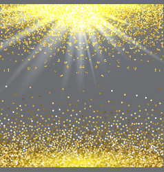 Abstract gold glitter splatter background for the vector