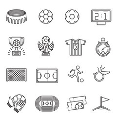 Soccer competition line icons football vector