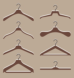 Set of cute hanger clothes vector