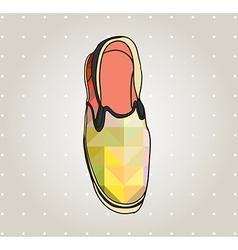 Artistic gum shoe vector