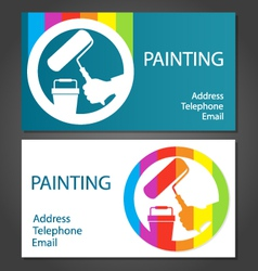 Business card for painting vector