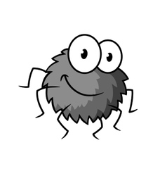 Cartoon cute gray little spider character vector image