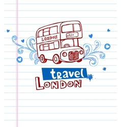 Greeting card from London vector image