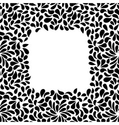 Seamless painted frame shape pattern hand drawn vector
