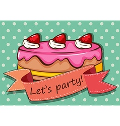 Party cake vector