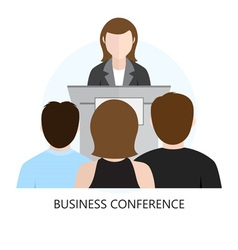 Conference flat design icon vector