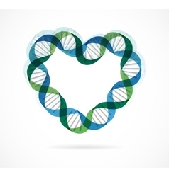 Dna genetic icon - heart vector