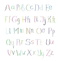Abc colorful hand drawn alphabet vector
