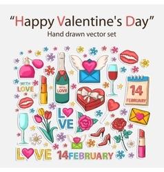 Happy valentines day scrap set vector