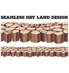 Seamless dry land design vector