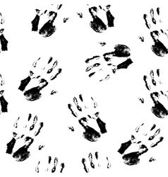 Seamless pattern - hand prints vector