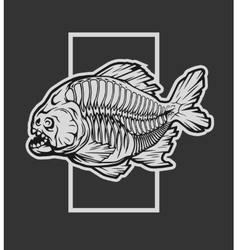 Skeleton piranha and a geometric element vector