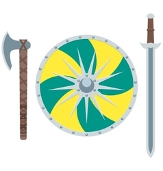 Viking weapon flat vector