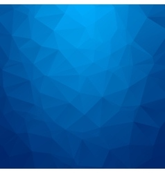 Abstract blue geometric triangle background vector
