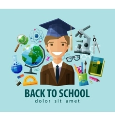 back to school logo design template vector image vector image