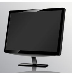 Blank computer monitor at the desk vector image