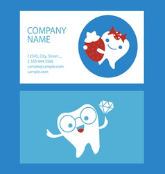 Corporate design with dental characters vector image vector image