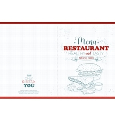 Cover Scetch horisontal menu design vector image vector image
