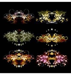 decorative element set vector image