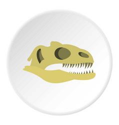 Dinosaur skull icon circle vector