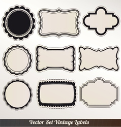 Frame labels Set ornamental vintage decorat vector image