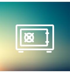 Gas burner thin line icon vector image vector image
