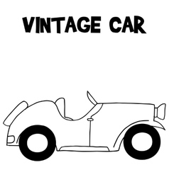 Hand draw of vintage car vector