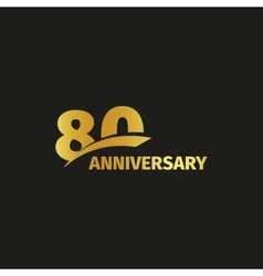 Isolated abstract golden 80th anniversary logo on vector image vector image