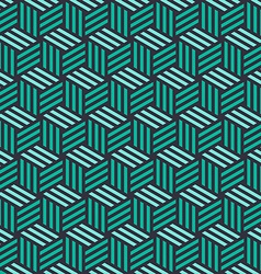 Isometric 3d cube seamless pattern background vector image
