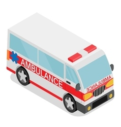 Isometric ambulance car vector