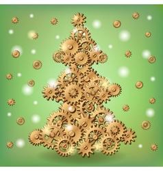 Mechanical Christmas tree vector image