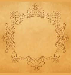 ornament element vintage frame design template vector image vector image
