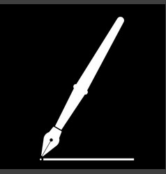 pen the white color icon vector image vector image