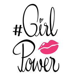 Phrase expression for girl power vector