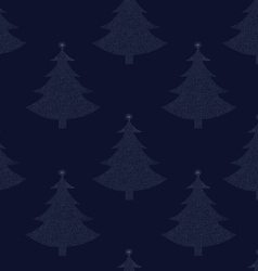 Seamless pattern Christmas tree 00 vector image vector image