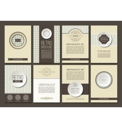 Set of brochures in vintage style vector image