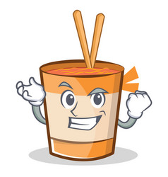 Successful cup noodles character cartoon vector