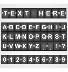 terminal letters vector image