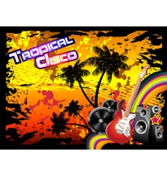 tropical disco flyer vector image vector image