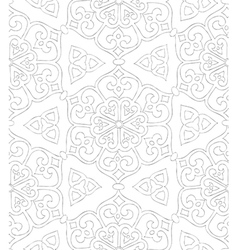 Traditional arabic ornament seamless for coloring vector image