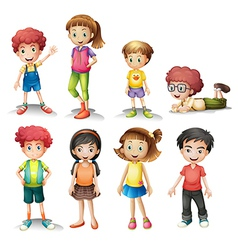Group of kids vector image