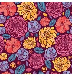 Summer flowers seamless pattern background vector