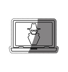 computer spyware infected vector image
