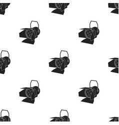Spotlight icon in black style isolated on white vector